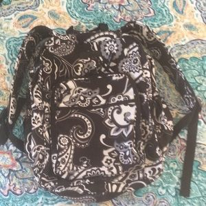 VERA BRADLEY large backpack, Midnight Paisley